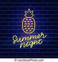 Summer Night neon banner template