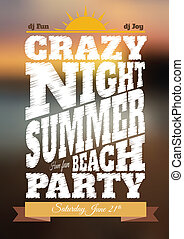 Summer night party poster