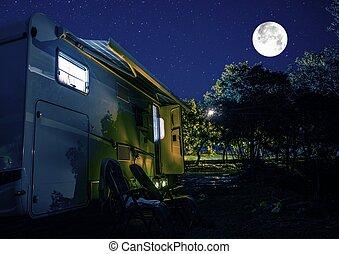 Summer Night RV Camping