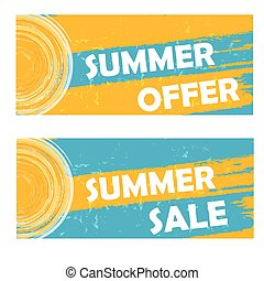 summer offer and sale, vector