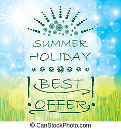 Summer offer background brochure
