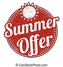 Summer offer stamp - Summer offer grunge rubber stamp on...