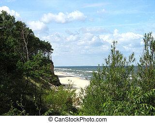 Summer on a baltic beach, Poland.