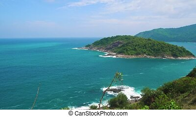 summer on a tropical island in the sea, beautiful seascape. travel and tourism
