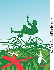Summer on bike