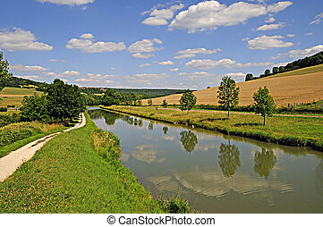 Summer On The Burgundy Canal - The Burgundy canal in France...