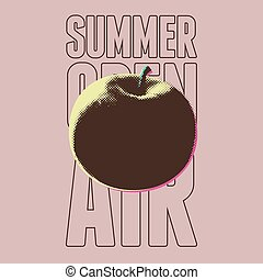 Summer open air festival typographical vintage grunge pop-art style poster design. Retro vector illustration.