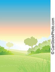 Summer Or Spring Morning Seasons Poster