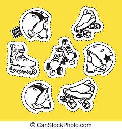 Summer outdoor activities sport equipment patch badges...