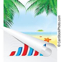 Summer palm beach