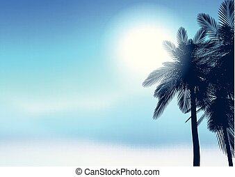 summer palm trees background 2206