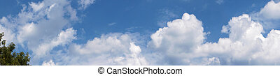 Summer Panorama - Clouds rolling by on a summer sky
