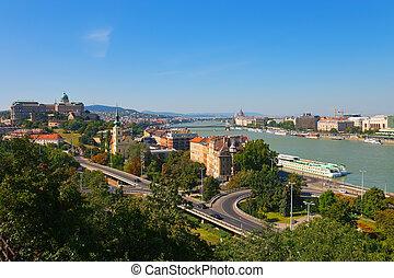 Summer panorama of Budapest