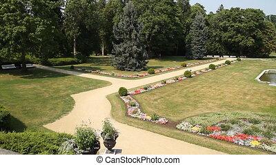 summer park, panorama