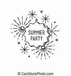 Summer party. Inspirational vector illustration