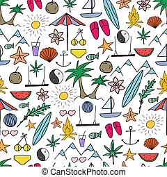 Summer party seamless pattern.