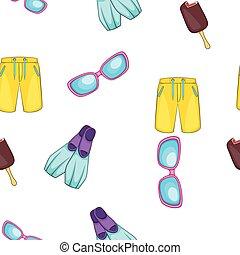 Summer pattern, cartoon style