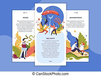Summer picnic and BBQ party web site template