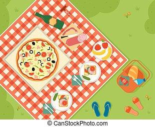 summer picnic in park banner