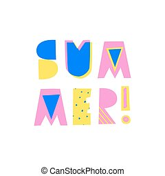 Summer Poster Design - Retro typographic summer design with...