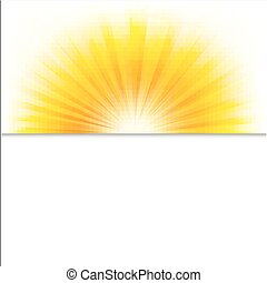Summer Poster With Beams