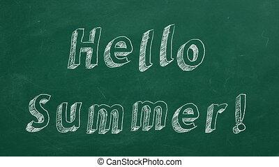summer!, powitanie