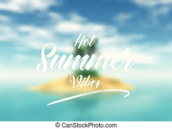 summer quotation background 1005 - Summer quotation on a...
