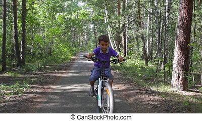 Summer recreation - Smiling kid enjoying his summer ...