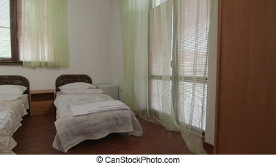 Summer resort hotel room interior