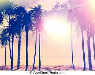 summer retro palm trees 1405
