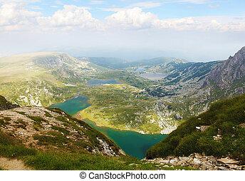 Rila Lakes Panoramic View, Rila Park, Bulgaria