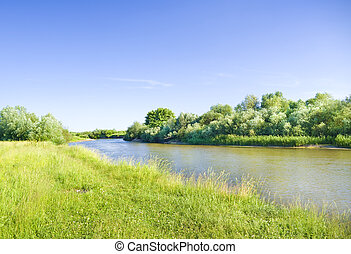 Summer river.