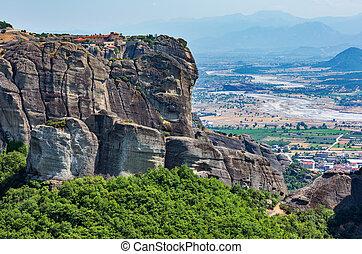 Summer rocky Meteora monasteries, Greece - Summer Meteora - ...