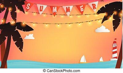 Summer Romantic moment background