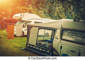 Summer RV Camper Camping