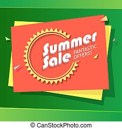 Summer sale advertisement