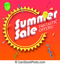 Summer sale advertisement