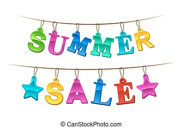 Summer Sale advertising banner or sign
