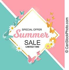 Summer Sale Background Vector Illustration