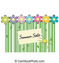 Summer sale background with bar code