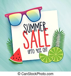 summer sale background with design elements