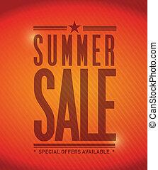 summer sale banner illustration design