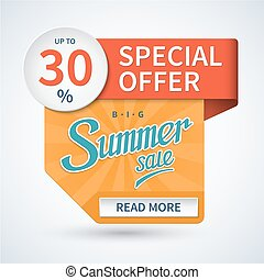 Summer sale banner. Special offer vector template