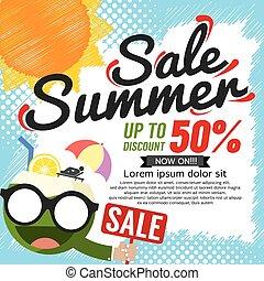 Summer Sale Banner Vector