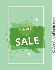 Summer Sale card. Banner with decoration. Vector illustration.