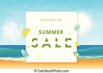 Summer Sale card. Vector illustration.