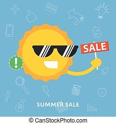 Summer sale concept vector flat