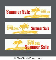 Summer sale design template.
