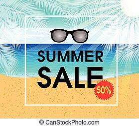 Summer sale design template Fresh discounts