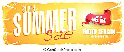 Summer Sale Extra Wide Banner